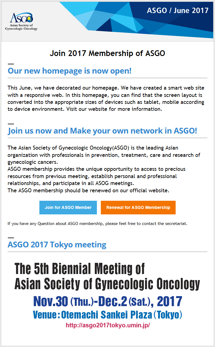 ASGO - Asian Society of Gynecologic Oncology